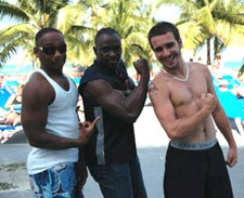 Kurt, Kerbie and Moses, members of the parkour and freerunning stunt team for 007 James Bond
