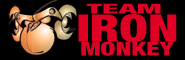 Logo and link of team Iron Monkey parkour crew
