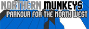 Banner and link to the parkour and freerunning website of the northern munkeys
