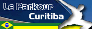 Banner and link to the parkour and freerunning website of the Curitiba crew
