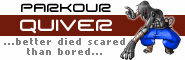 Banner and link to the parkour and freerunning website of the Parkour Quiver crew