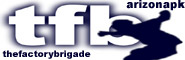 Banner and link to the parkour and freerunning website of the Factory Brigade