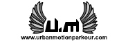 Banner and link to the parkour and freerunning website of the Urban Motion crew