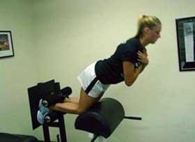 technogym hamstring stretch machine
